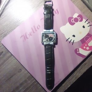 Sanrio Hello Kitty Black Square Watch